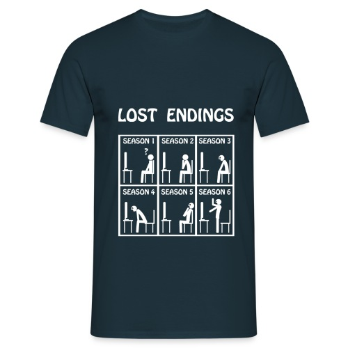 Lost - endings (white) - Camiseta hombre