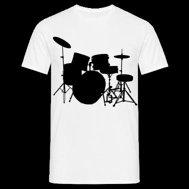 music drumset drum T-Shirts