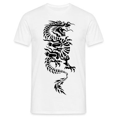 chinese dragon tribal T-Shirts