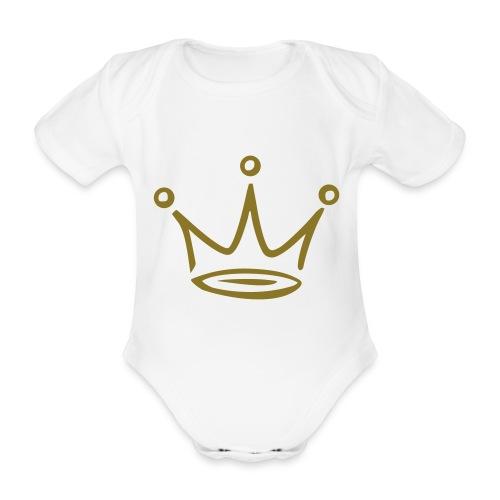 Body - Krone - Baby Bio-Kurzarm-Body
