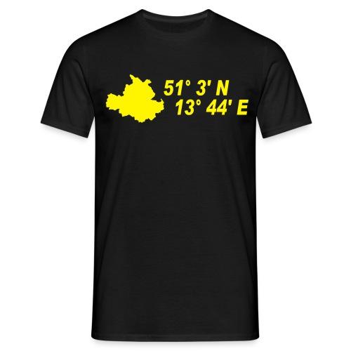 Dresden Koodinaten T-Shirt - Männer T-Shirt