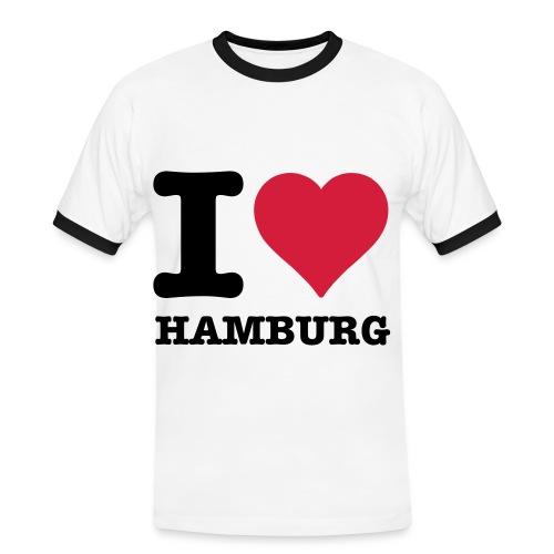 I Love Hamburg (Men) - Männer Kontrast-T-Shirt