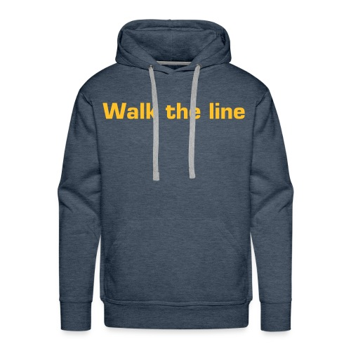 Walk the line - Sweat-shirt à capuche Premium pour hommes