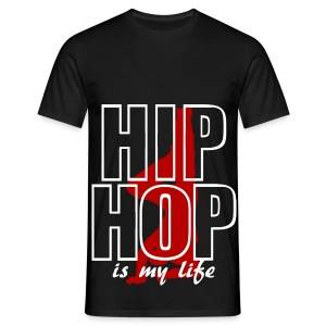 T shirt homme hip hop is my life - T-shirt Homme