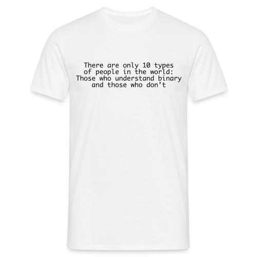 Binääri - Paita - Miesten t-paita