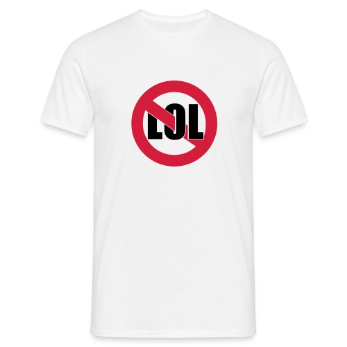 no lol (m) - Mannen T-shirt