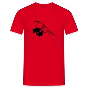 cat rocket (m) - Mannen T-shirt