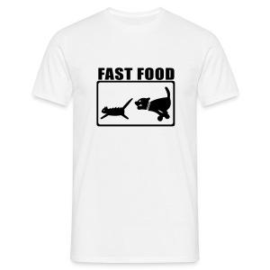 fast food (m) - Mannen T-shirt