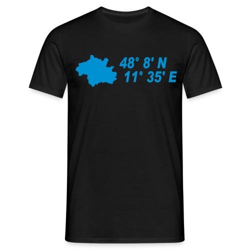 München Koordinaten T-Shirt - Männer T-Shirt