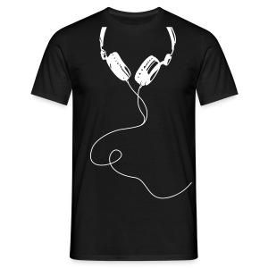 Headphone t shirt écouteurs audífonos Kopfhörer casque ear-phones - T-shirt Homme
