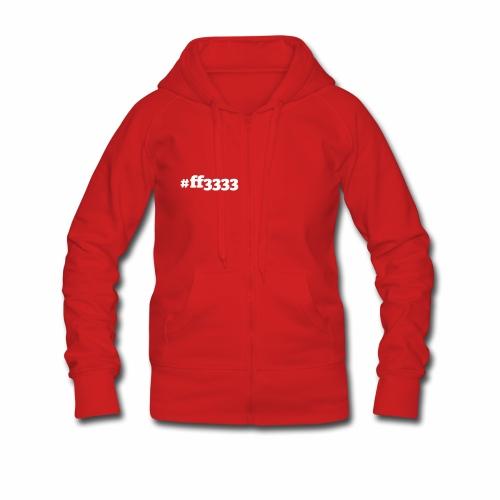 #ff3333 Rot  - Frauen Premium Kapuzenjacke