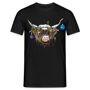 Christmas Highland Cow (Limited Edition) T-Shirts - Men's T-Shirt