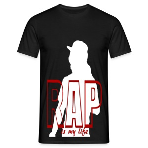 T shirt homme rap is my life - T-shirt Homme