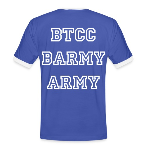 T- Shirt   No text on front  BTCC BARMY ARMY on back - Men's Ringer Shirt