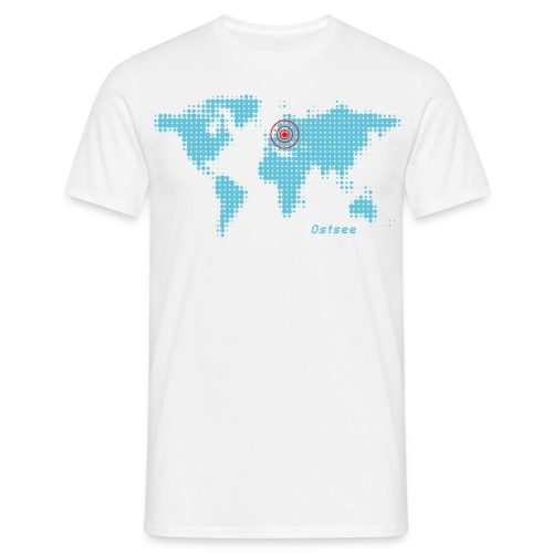 Ostsee Weltkarte T-Shirt - Männer T-Shirt