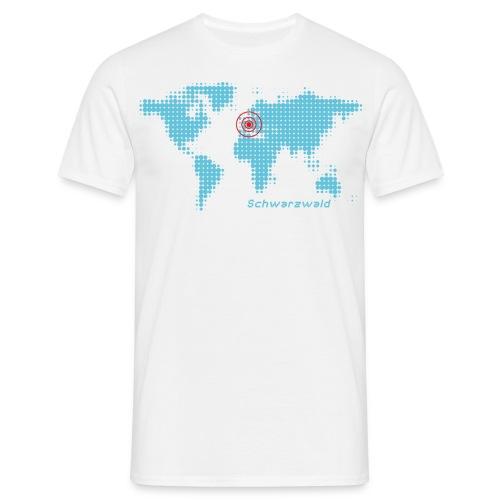Schwarzwald Weltkarte T-Shirt - Männer T-Shirt