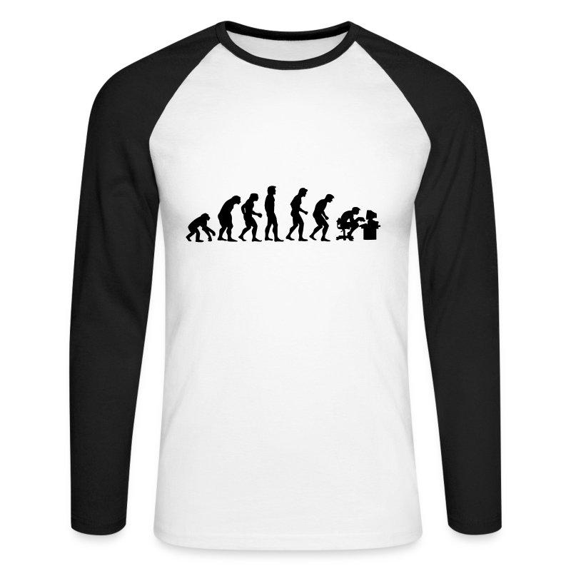 Evolution (Long Sleeve) - Men's Long Sleeve Baseball T-Shirt