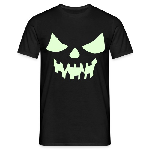 Glow in the Dark Face - Men's T-Shirt