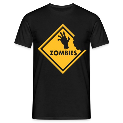Zombie Sign - Men's T-Shirt
