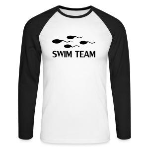 Swim Team (Long Sleeve) - Men's Long Sleeve Baseball T-Shirt