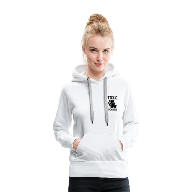Ladies TS hoodie with logo on left breast