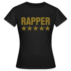 rapper zwart - goud dames - Vrouwen T-shirt