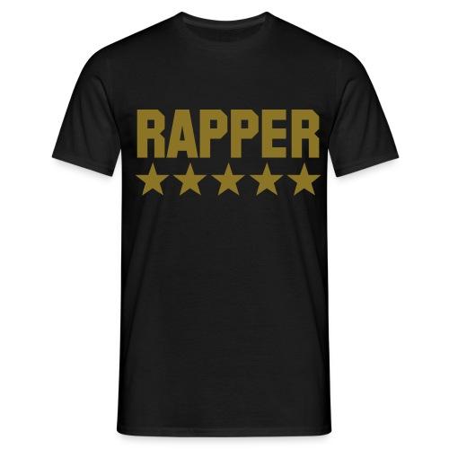 rapper zwart - goud - Mannen T-shirt