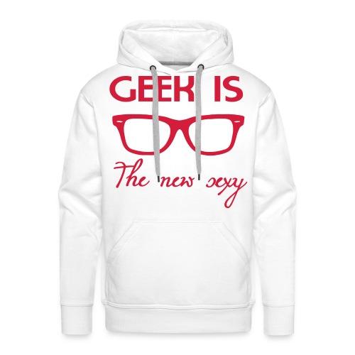 Geeks are sexy - Premium hettegenser for menn