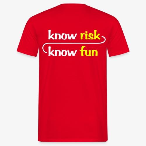 know risk / know fun - rot (men) - Männer T-Shirt