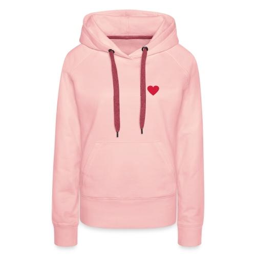 pink felpa - Felpa con cappuccio premium da donna