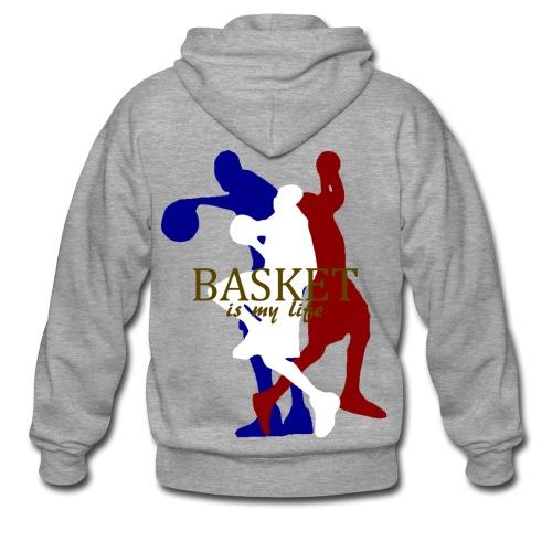 Veste à capuche homme basket is my life - Veste à capuche Premium Homme
