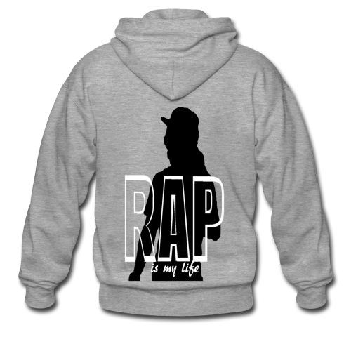 Veste à capuche homme rap is my life - Veste à capuche Premium Homme