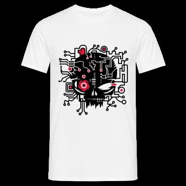 Cyber Skull T-Shirts