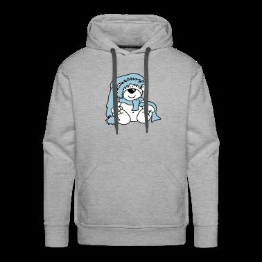 Cute little polar bear with a hat Hoodies & Sweatshirts