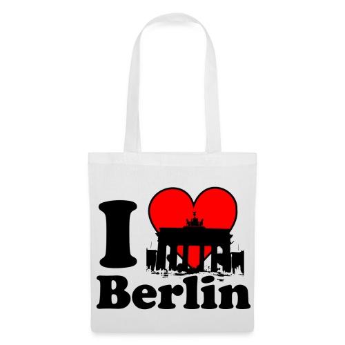 I Love Berlin Brandenburger Tor Tragetasche - Stoffbeutel
