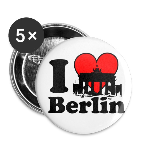 I Love Berlin Brandenburger Tor Button groß - Buttons groß 56 mm