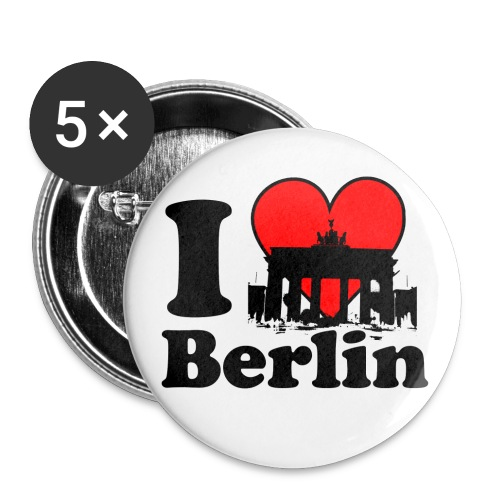 I Love Berlin Brandenburger Tor Tragetasche Button klein - Buttons klein 25 mm