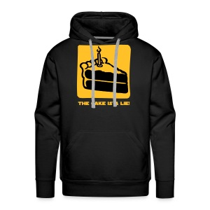The Cake is a Lie Hoodies & Sweatshirts - Men's Premium Hoodie