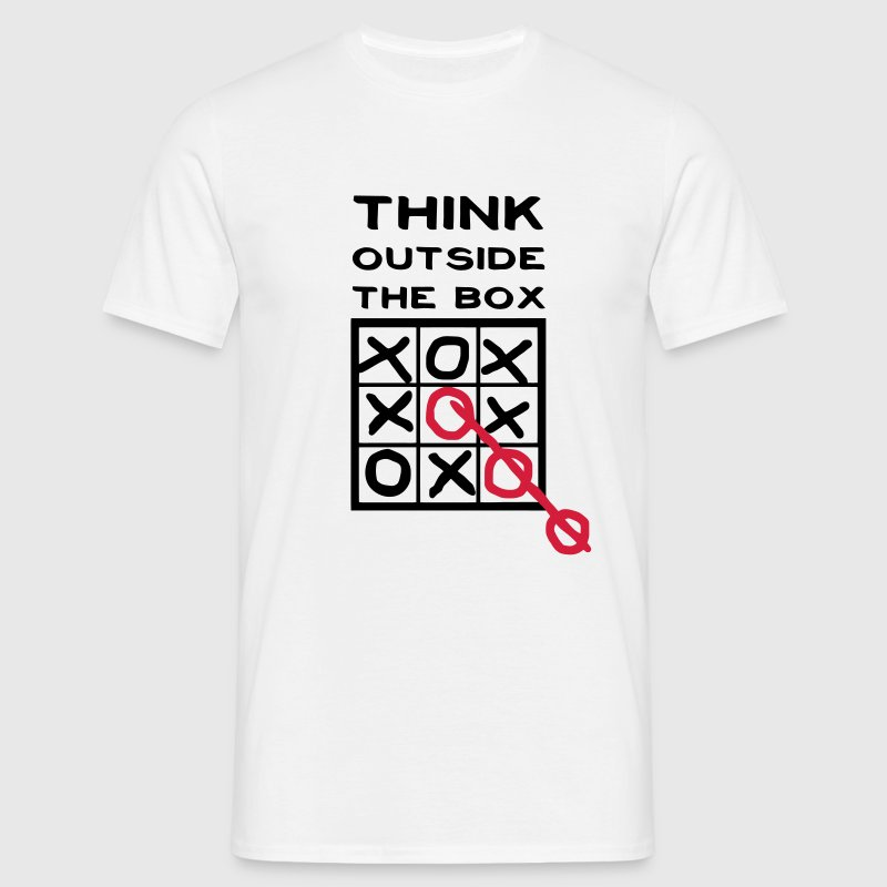 Think outside the box, creative thinking, thoughts are free T-Shirts - Men's T-Shirt