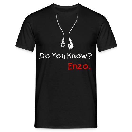 Do you know?/black - Men's T-Shirt