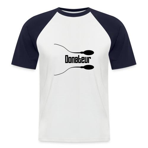 Tee-shirt Donateur - T-shirt baseball manches courtes Homme