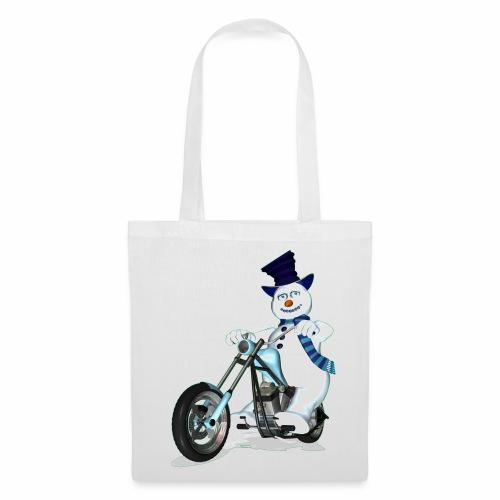 Biker Snowman - Tote Bag
