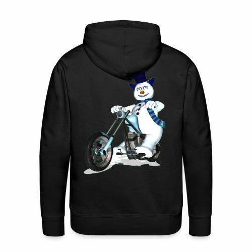 Biker Snowman - Men's Premium Hoodie