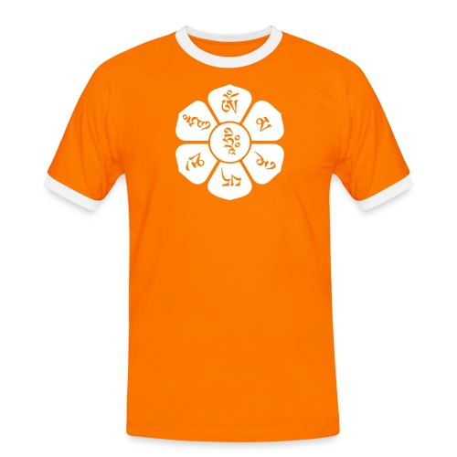om mani padme hum - orange/white - Männer Kontrast-T-Shirt