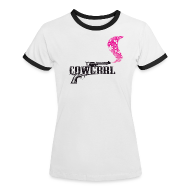 T-Shirts ~ Women's Ringer T-Shirt ~ Cowgrrl Tee Deluxe