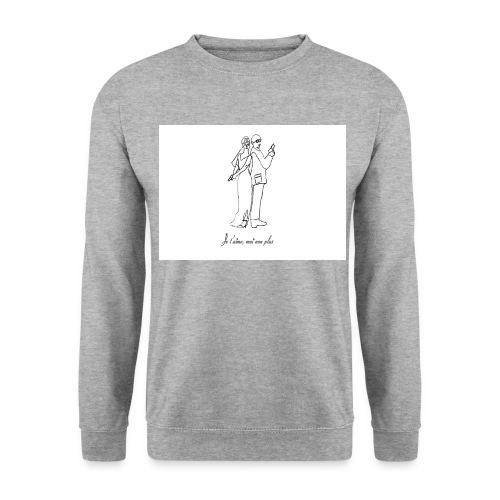 SWEAT SHIRT BLANC HOMME JE T'AIME MOI NON PLUS - Sweat-shirt Homme