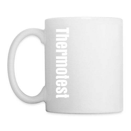 White text on thermosublimation - Tasse