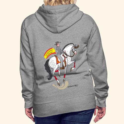 Andalusian Horselover felpa donna - Felpa con cappuccio premium da donna