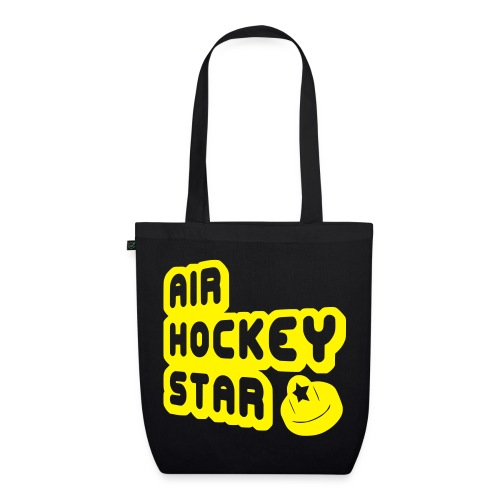 Air Hockey Star Organic Tote Bag - EarthPositive Tote Bag