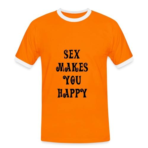 Sex Makes you happy - Miesten kontrastipaita